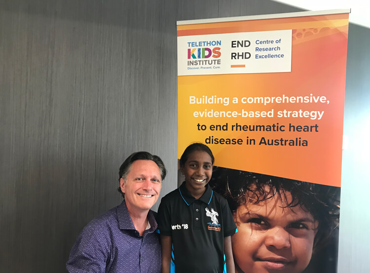 Professor Jonathan Carapetis and Laqueisha on a recent visit to the END RHD CRE